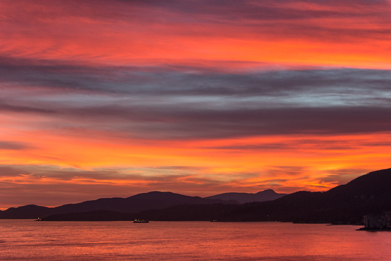 West Van Sunset ~ Vancouver, BC