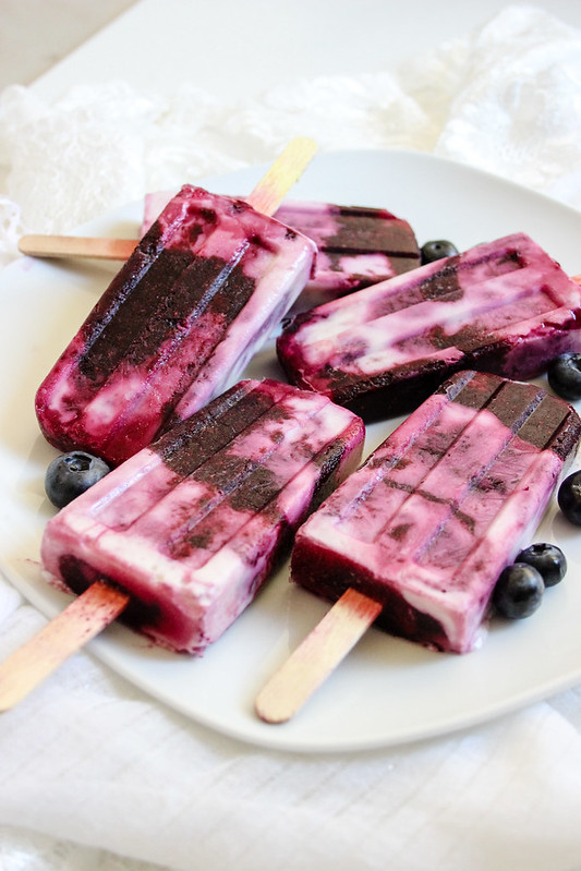 Blueberry Swirl Coconut Pops