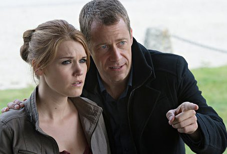 "HAVEN -- ""When The Bough Breaks"" Episode 412 -- Pictured: (l-r) Emily Rose as Audrey Parker, Colin Ferguson as William -- (Photo by: Michael Tompkins/Syfy)"