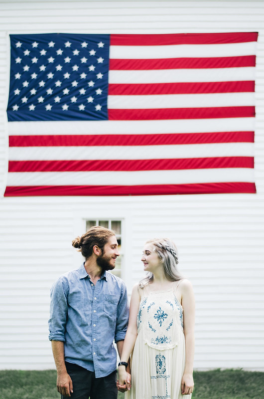 American Flag Couple Portrait on juliettelaura.blogspot.com