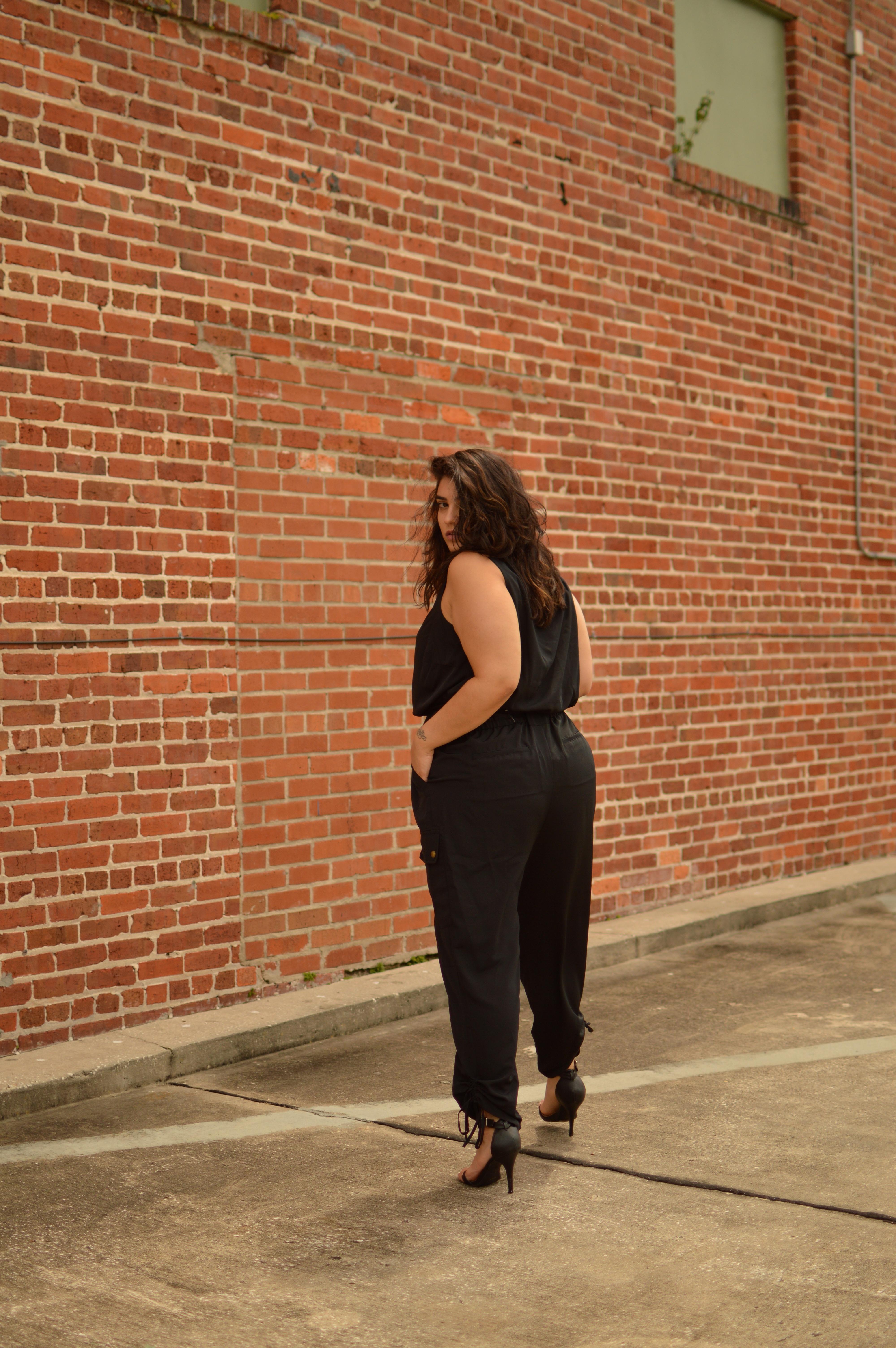 black jumpsuit nadia