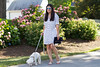 polka dot shirt dress, clare v clutch, dog walking outfit-4.jpg by LyddieGal
