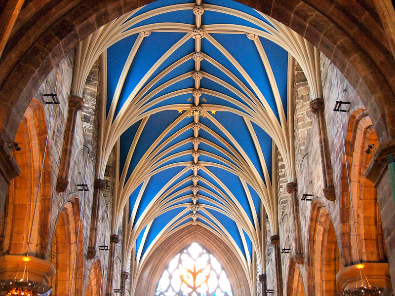 Inside St. Giles Cathedral in Edinburgh
