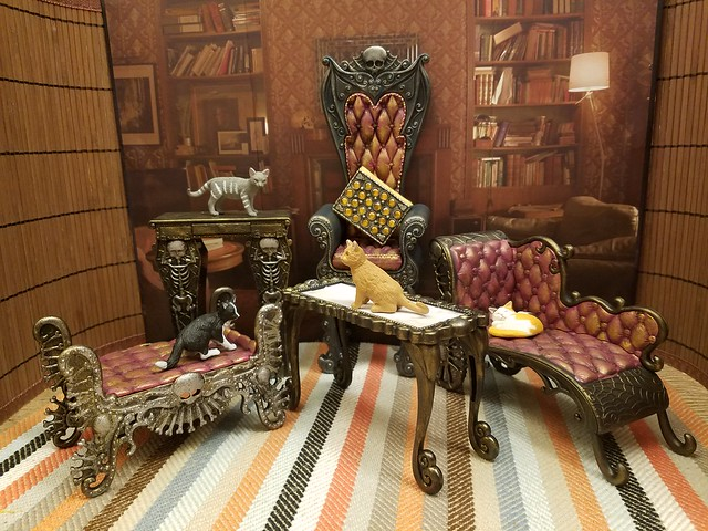 monster high furnitures redecorated for shalka tardis library