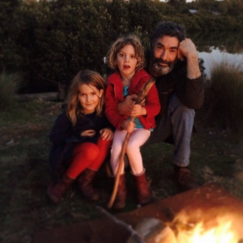 163/365 • the three of them • #163_2015 #7yo #4yo #M #campfire #solstice #wintersolstice #Winter2015 #boatyard #family #love