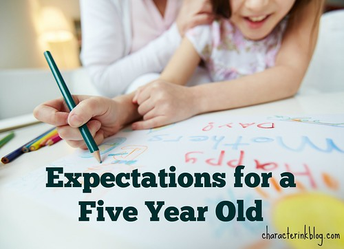 Expectations For a  Five Year Old