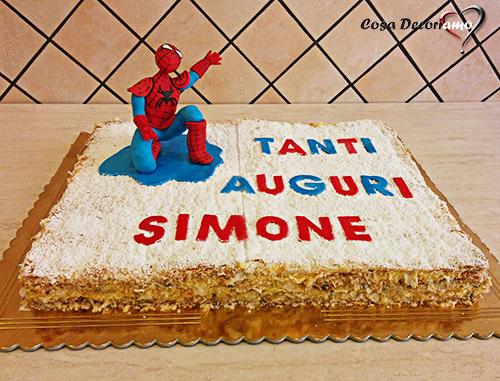 Torte - 104 - Torta Spiderman millefoglie
