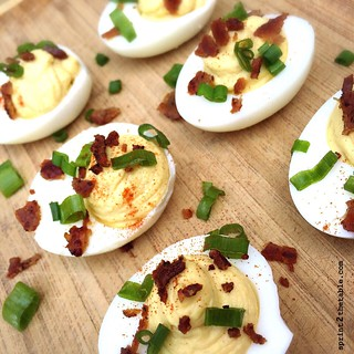 Bacon Dijon Deviled Eggs