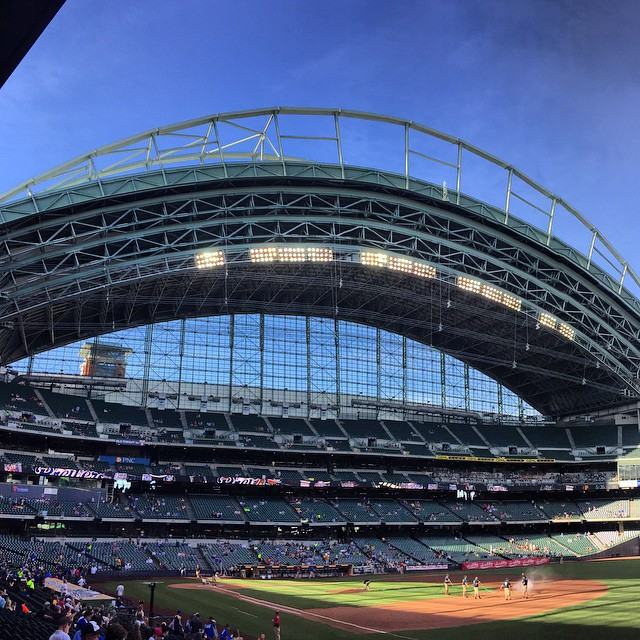 Miller Park!!!  Great night for baseball!