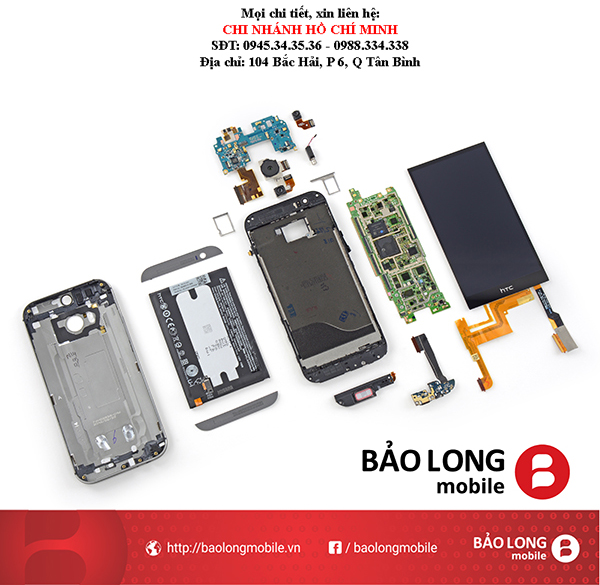 Hình ảnh thực tế của các nơi chuyên sửa mặt kính smartphone HTC One M7 trong SG