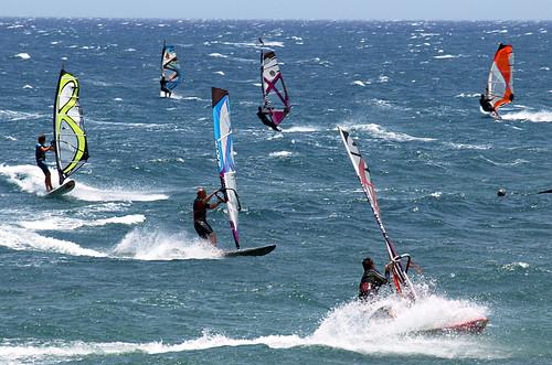 Windsurfers, El Medano, Tenerife