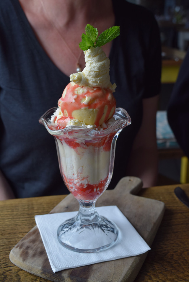 Ice Cream Sundae at The Boatyard, Isle of Man