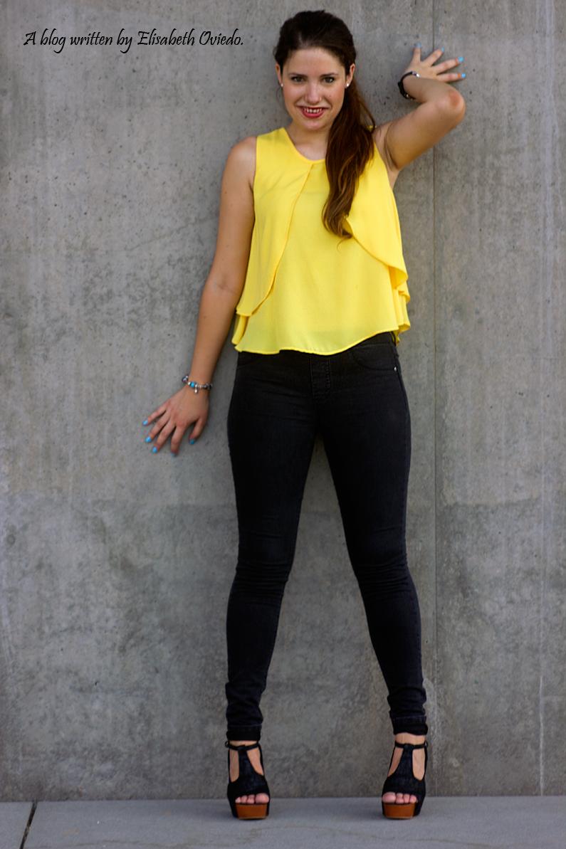 blusa amarilla zara leggings negros heelsandroses (7)