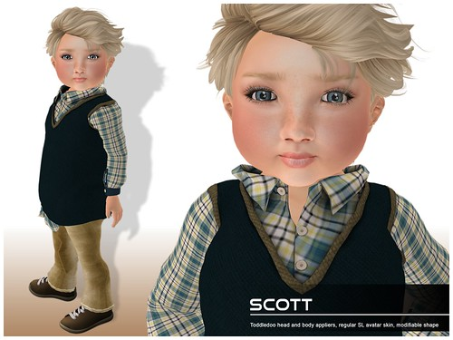 Deluxe Body Factory - Scott skin Toddleedoo baby boy