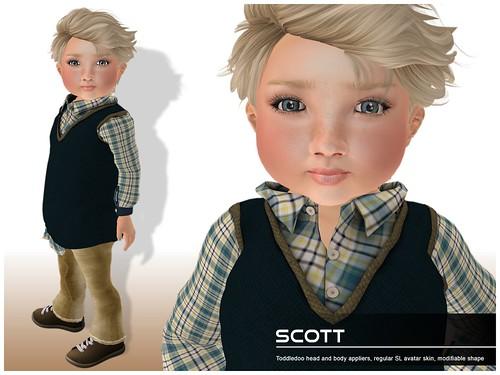 Deluxe Body Factory - Scott skin Toddleedoo baby boy