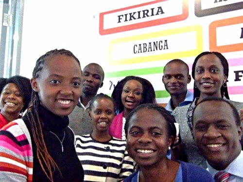 IBM Research – Africa at the 'Selfie Station' during the launch of the Nairobi THINKLab