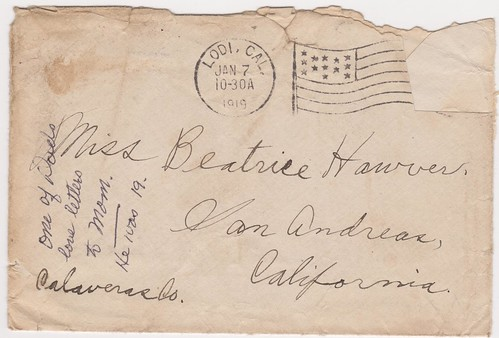 Ray Wisner Letter to Beatrice Hawver 1919