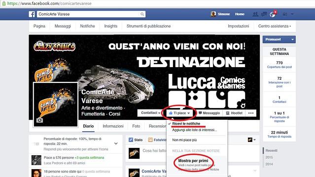 pagina Facebook ComicArte