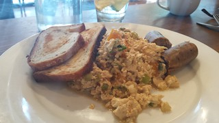 Butternut and Fennel Scramble at Plum Bistro