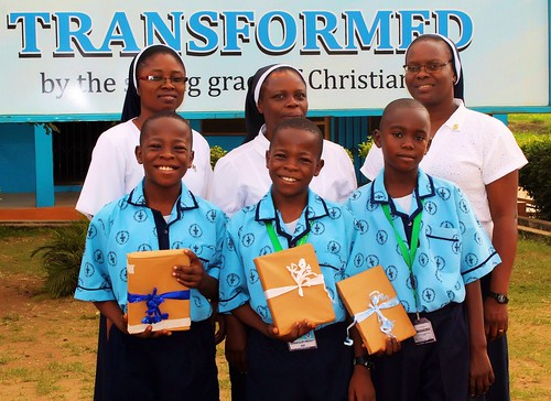 The St Louis Nursery and Primary School in Akure recently celebrated the achievements of three students who claimed prestigious prizes in a National Mathematics competition
