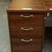 Walnut desk high 3 drawer ped 800 deep