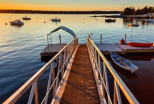 September Sunset Squirrel Island, Maine