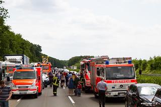 LKW Unfall A3 Niedernhausen 9.6.2015