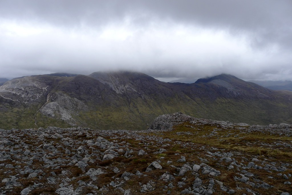 Cloud over Sgorr Ruadh and Fuar Tholl
