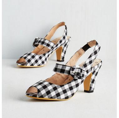 gingham heels