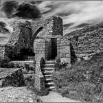 Image of Grosnez Castle. summer bw castle mono ruin jersey stouen 2015 grosnez