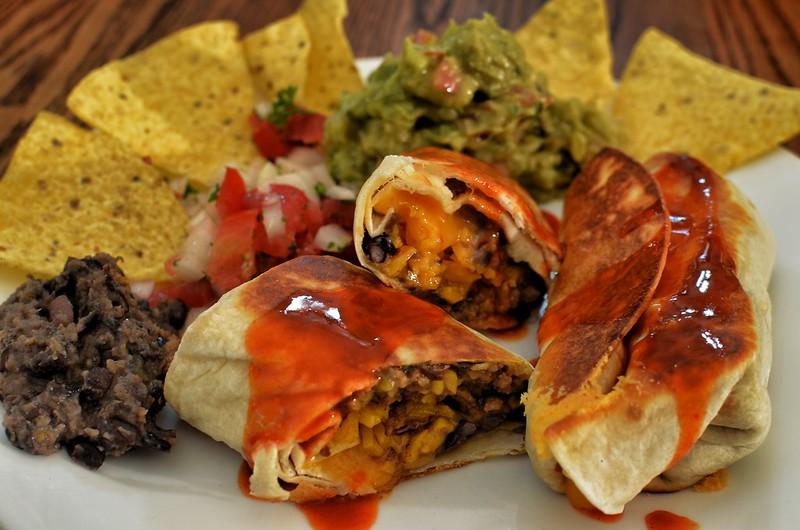 Mmm... burrito platter