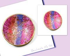Rainbow Wedding Ring Dish- polymer clay