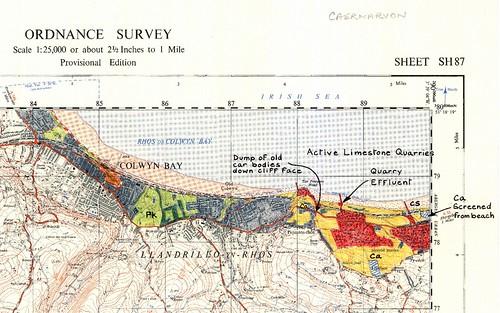 海岸線調查地圖。圖片來源:INTO