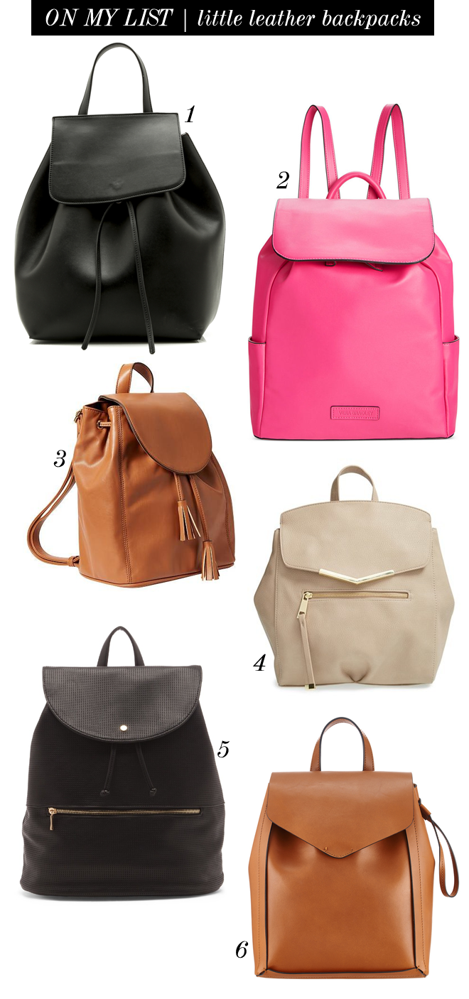 on my list little leather backpacks