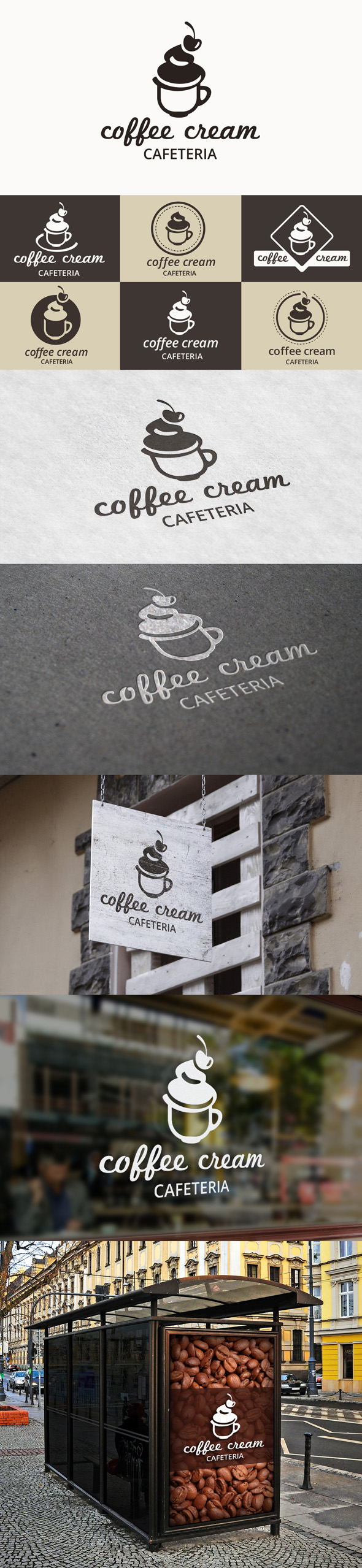 COFFEE MENU & POSTER: Coffee options built by yourself