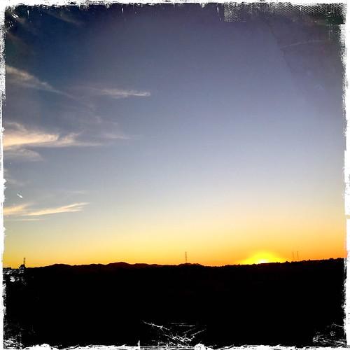 day215: the sun setting