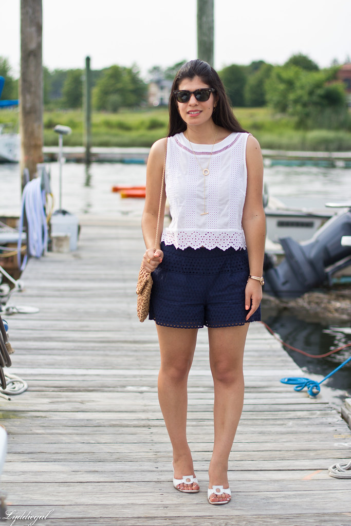 eyelet lace crop top and shorts, straw bag, white sandals-8.jpg