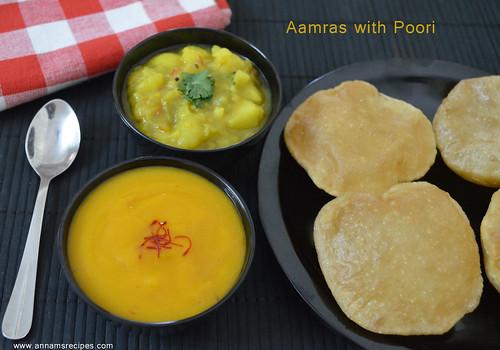 Aamras / Aamras with Poori