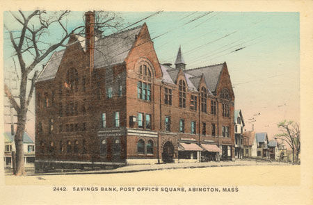 Abington savingsbank postcard