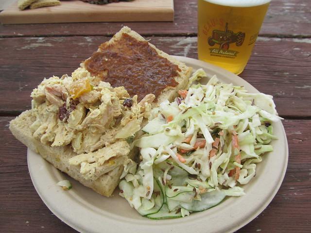Curry Chicken + Apple Salad Sandwich