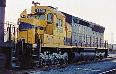 MK Leasing SD45 No. 9538 At Mojave