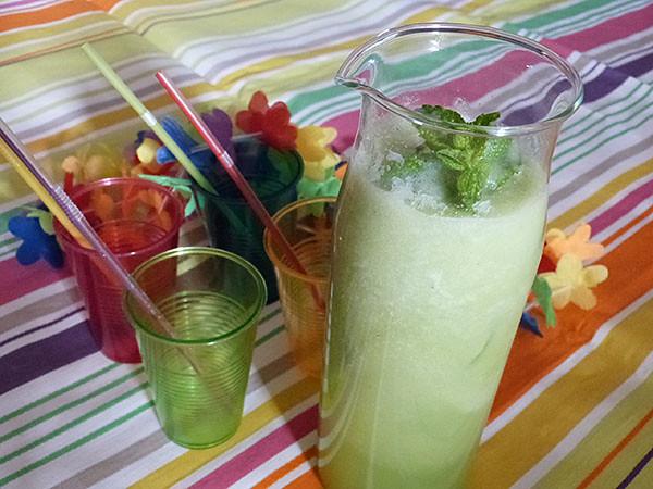 concombre, lime et menthe