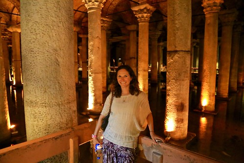Lina in the Basilica Cistern in Istanbul