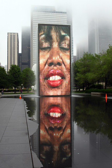 At Crown Fountain