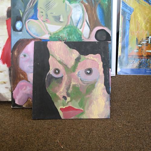 woman camo face