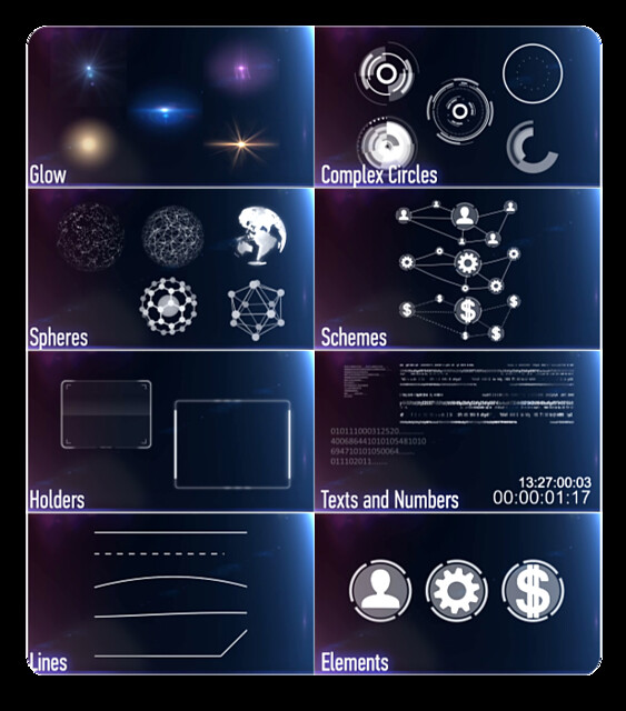 149 HUD Elements Pack for Touch Screen - 2