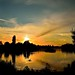 sunset sky over Stanborough Lake by 35mmMan