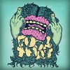 Fuck That #drawing #illustration #lowbrow #hairy #monster #fword #thebird #middlefinger