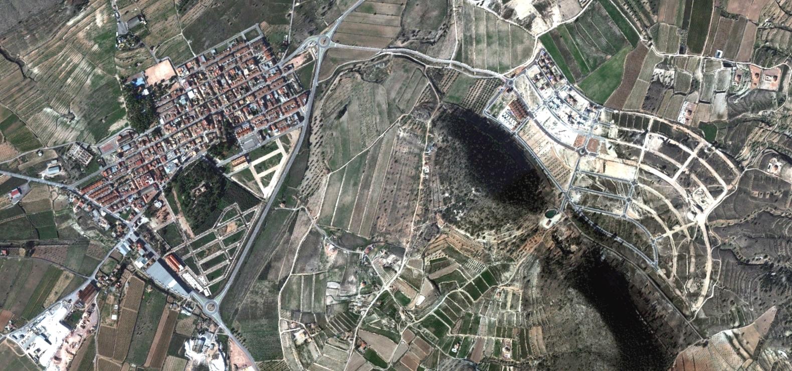 la romana, alicante, a la, después, urbanismo, planeamiento, urbano, desastre, urbanístico, construcción, rotondas, carretera