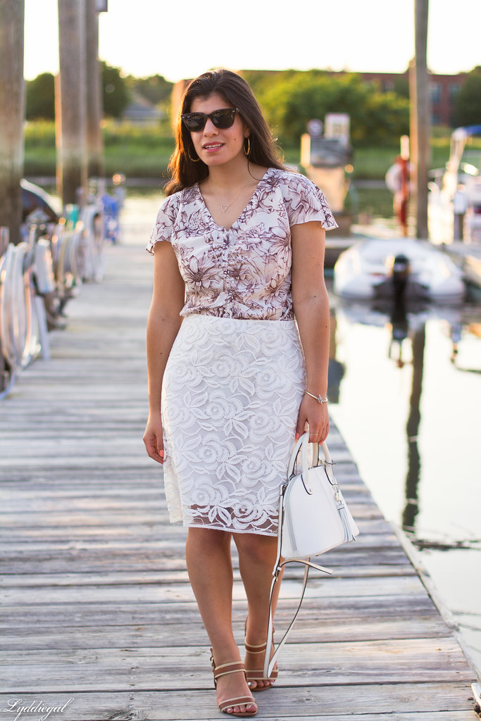 brown and white floral blouse, white lace skirt-10.jpg